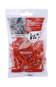 Plastic Graduated Tees 1 1/4 Bag 25 Red