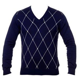Gant Sporty Argyle Cotton V-Neck