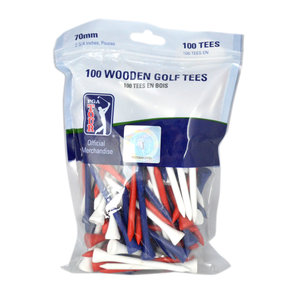 Pga Tour 100 X 7cm Wooden Golf Tees