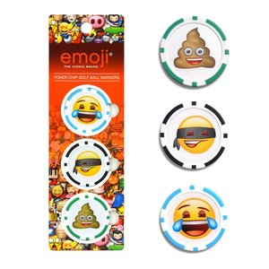 Emoji 3pack Golf Poker Chips