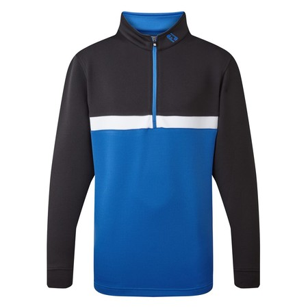 FootJoy Junior Quarter Zip Colour Blocked Chill-Out