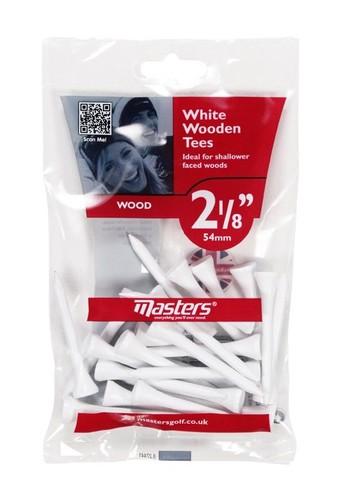 Wood Tees Bumpa Bag 25 x White 2 1/8