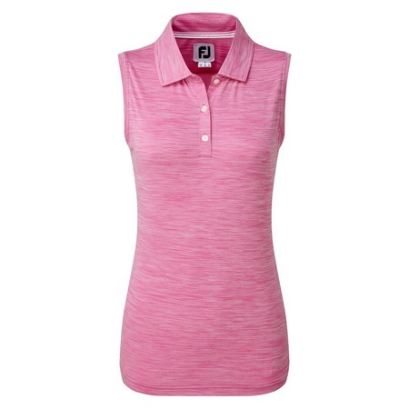FootJoy Womens Lisle Sleeveless Shirt with Neck Trim