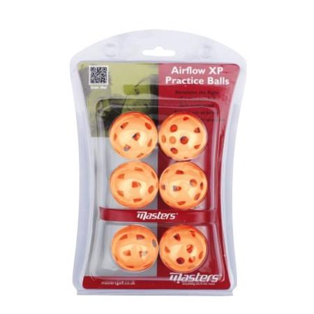 Masters Airflow XP Practice Balls Orange pack 6