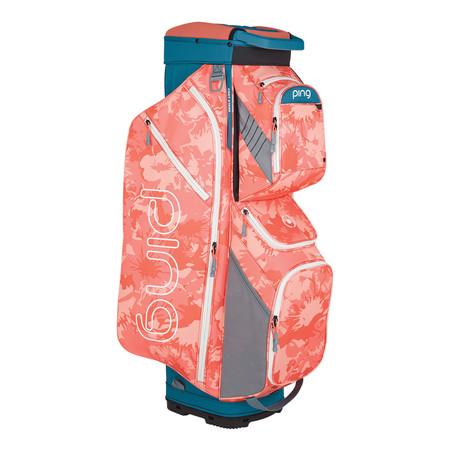 Ping Traverse Cart Bag Storm Coral Bloom