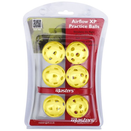 Masters Airflow XP Practice Balls Yellow pack 6